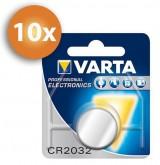Voordeelpak Varta CR2032 knoopcel batterijen - 10 stuks