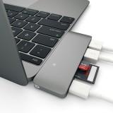 Energea AluHub C - 5-in-1 Superspeed Aluminium 3.1 USB-C hub, inclusief 2 x USB 3.0
