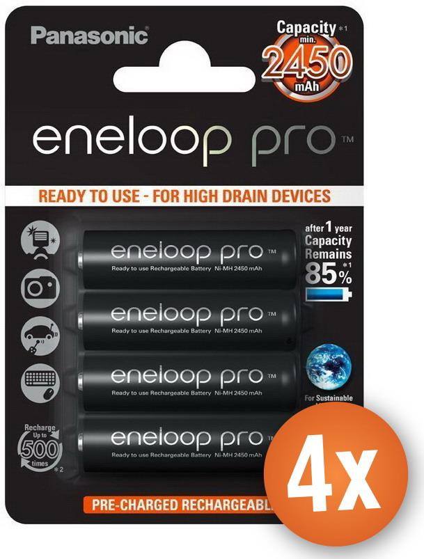Voordeelpak 16 x AA Panasonic Eneloop Pro batterijen 2500mAh
