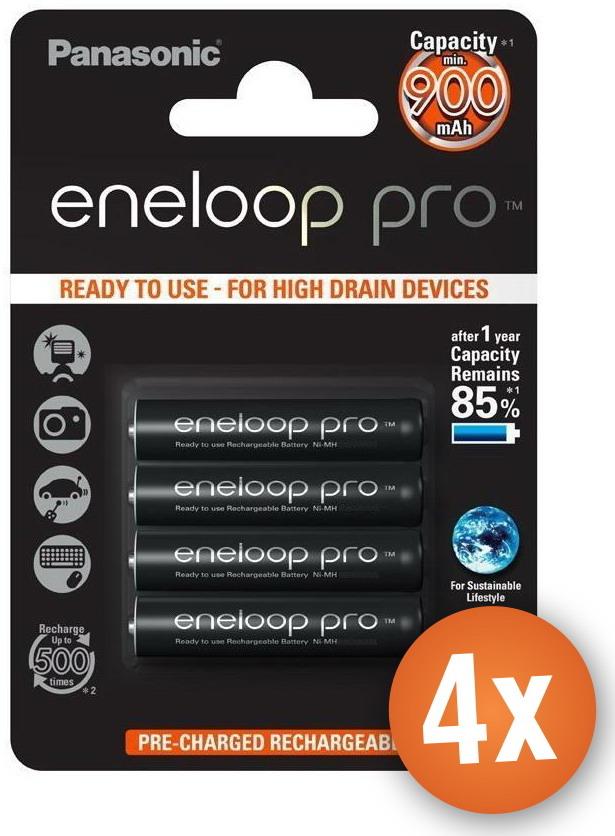 Voordeelpak 16 x AAA Panasonic Eneloop Pro batterijen 900mAh