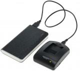 Powerpakket: mini USB oplader + 8000mAh Powerbank voor Canon LP-E5