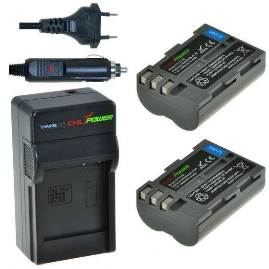 2 x EN-EL3e accu's voor Nikon inclusief oplader en autolader