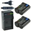 2 x EN-EL15 accu's voor Nikon - inclusief oplader en autolader - Origineel ChiliPower