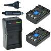 2 x NB-2LH accu's voor Canon - inclusief oplader en autolader - Origineel ChiliPower