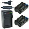 2 x NP-FM500H accu's voor Sony - inclusief oplader en autolader - Origineel ChiliPower