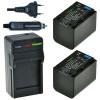 2 x NP-FV70 accu's voor Sony - inclusief oplader en autolader - Origineel ChiliPower