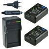 2 x NP-FW50 accu's voor Sony - inclusief oplader en autolader - Origineel ChiliPower