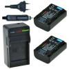 2 x NP-FH50 accu's voor Sony - inclusief oplader en autolader - Origineel ChiliPower