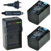 2 x NP-FH70 accu's voor Sony - inclusief oplader en autolader - Origineel ChiliPower
