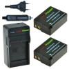 2 x DMW-BLC12 accu's voor Panasonic - inclusief oplader en autolader - Origineel ChiliPower