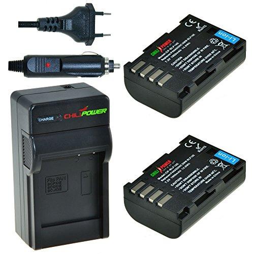 2 x DMW-BLF19 accu's voor Panasonic inclusief oplader en autolader