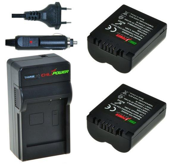2 x CGA-S006 accu's voor Panasonic inclusief oplader en autolader