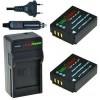 2 x CGA-S007 accu's voor Panasonic - inclusief oplader en autolader - Origineel ChiliPower