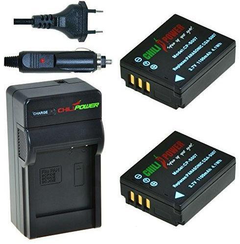 2 x CGA-S007 accu's voor Panasonic inclusief oplader en autolader