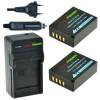 2 x NP-W126 accu's voor Fujifilm - inclusief oplader en autolader - Origineel ChiliPower