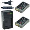 2 x BLS-5 accu's voor Olympus - inclusief oplader en autolader - Origineel ChiliPower