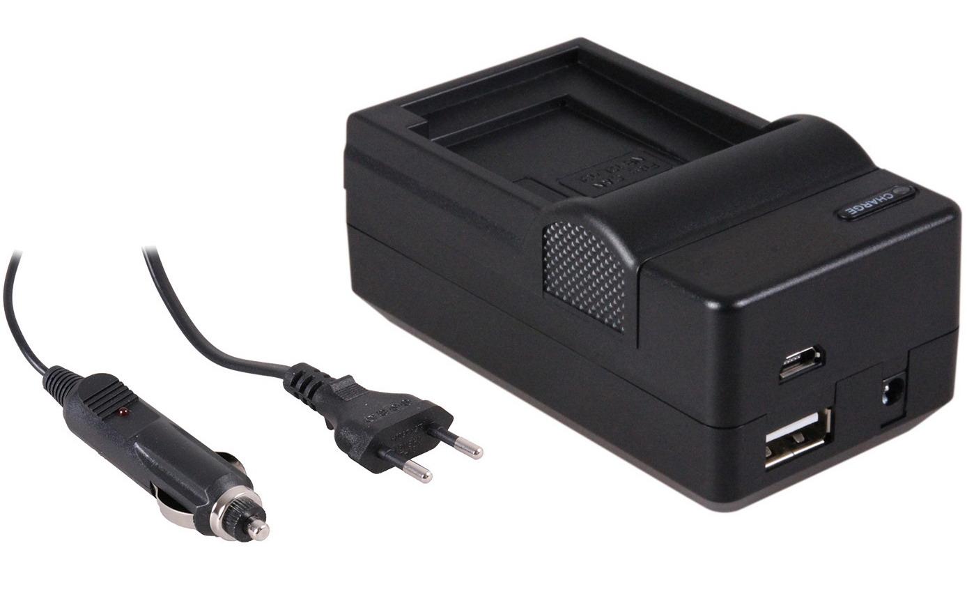 4-in-1 acculader voor Canon NB-13L accu compact en licht laden via stopcontact, auto, USB en Powerba