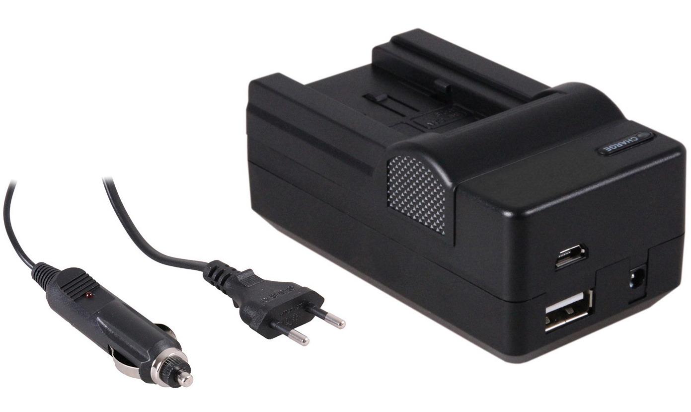 4-in-1 acculader voor Canon BP-709-BP-718-BP-727-BP-745 compact en licht laden via stopcontact, auto