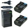 2 x D-Li90 accu's voor Pentax - inclusief oplader en autolader - Origineel ChiliPower
