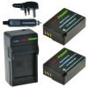 2 x DMW-BLC12 accu's voor Panasonic - Charger Kit + car-charger - UK version