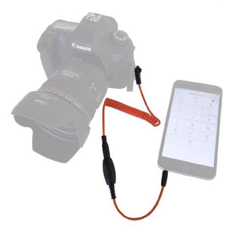 Miops Smartphone Afstandsbediening MD-C1 met C1 kabel voor Canon
