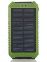 Powerbank externe accu - Extra Power - Solar - 10.000mAh - Groen