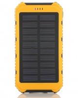 Powerbank externe accu - Extra Power - Solar - 10.000mAh - Geel