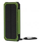 Powerbank externe accu - Extra Power - Solar - 20.000mAh - Groen