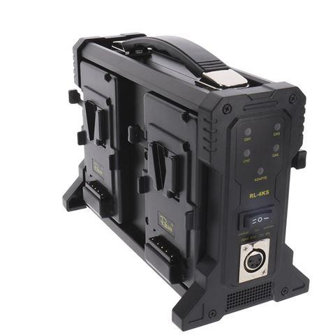 Rolux Acculader RL-4KS voor 4 x V-Mount Accu