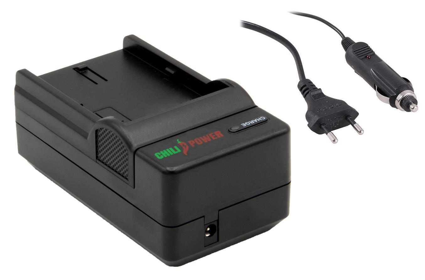 ChiliPower Fuji NP-50 oplader stopcontact en autolader