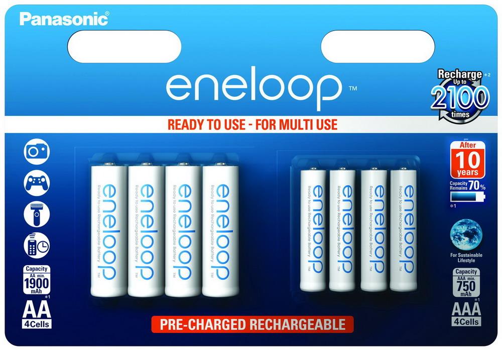 Panasonic Eneloop Combipack 1x4 Mignon AA 1x4 Micro AAA